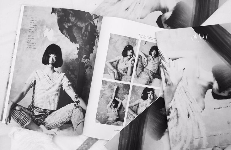 """Our first catalogue of """"Dongeng Alam Vol. I"""" / """"Nature's Folktale Vol. I""""is out.   Visit our website www.imajistudio.co for a full look on our collection.   Photos by: Sally & Emily Model: Dylan Sada  #catalogue #design #blackandwhite #concept #fashion #naturaldye"""