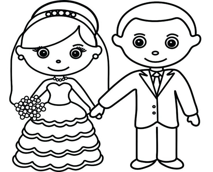Bride And Groom Coloring Pages 7SL6 Bride And Groom ...