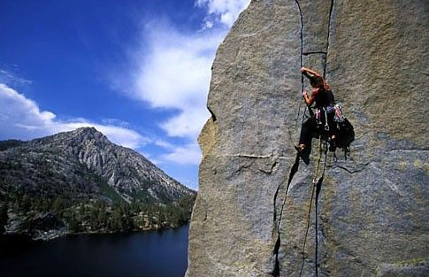 Rock Climbing Near Eagle Lake With That Alpine Lake In