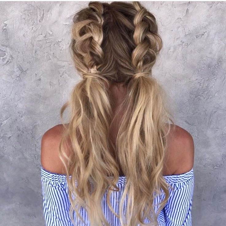 Half Dutch braided pigtails