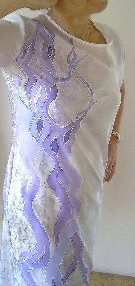 dress (silk, hand painted, 12/2015)