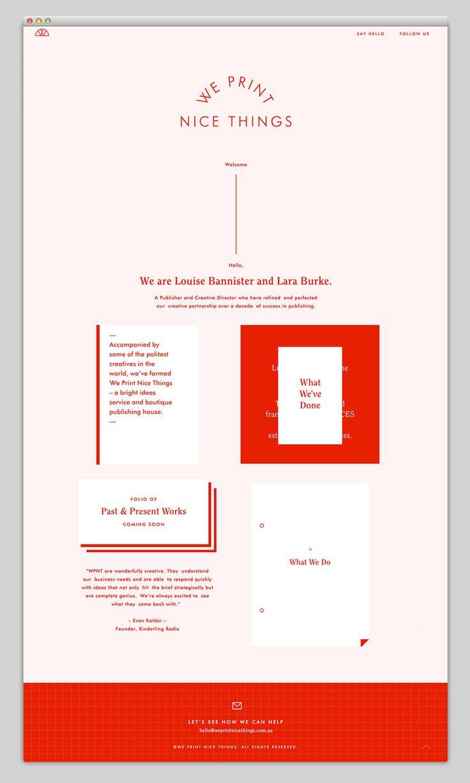 Websites We Love — We print nice things