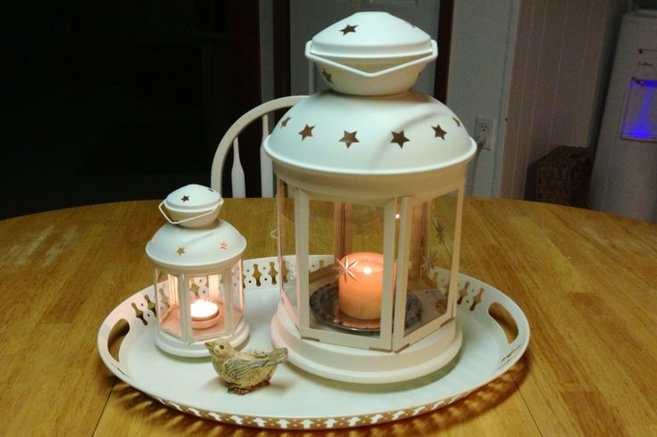 Ikea lanterns and tray for the love of lanterns for Ikea tea light battery