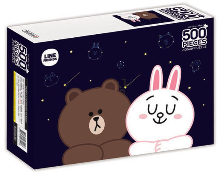 Naver Line Friends Characters 500 pieces Toy Jigsaw Puzzles NIGHT SKY #LineFriends