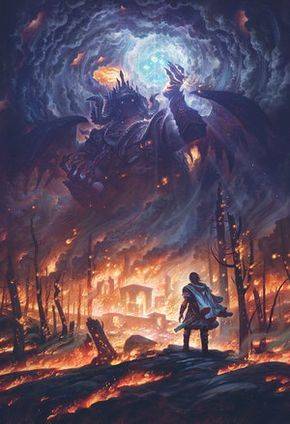 """Morgoth and the Silmarils"" 18″ x 24″ Canvas Print"