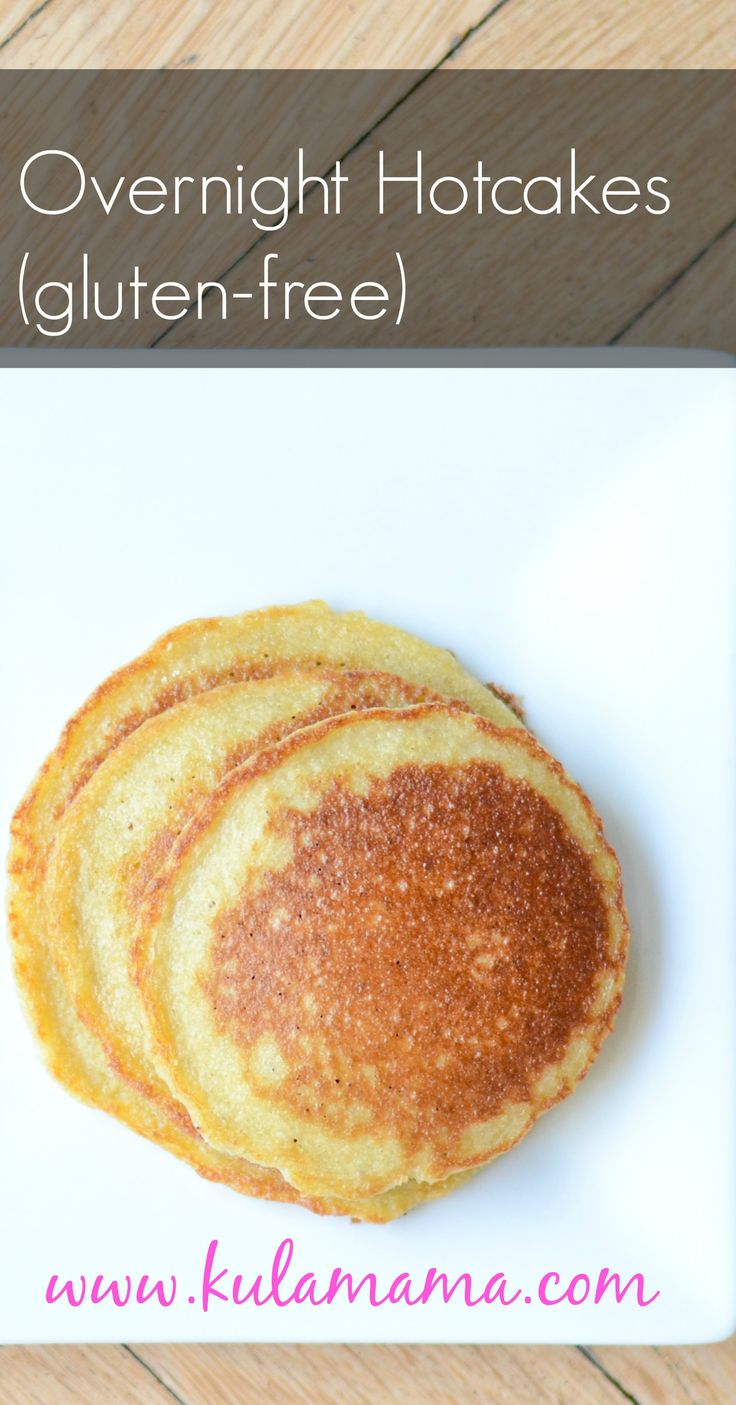 overnight hotcakes by www.kulamama.com uses soaked grains in place of flour for a whole food pancake