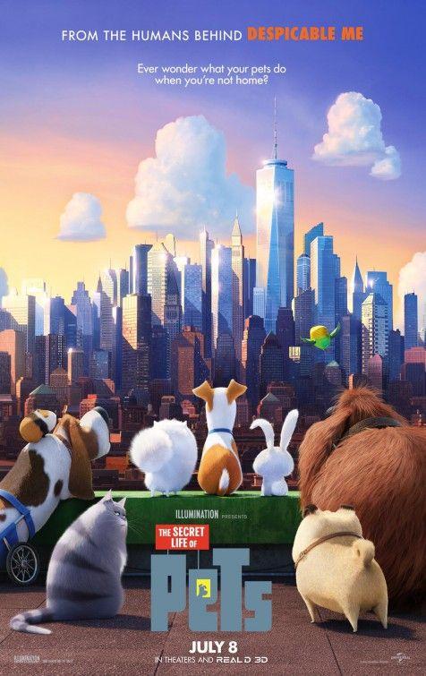 Poster for The Secret Life of Pets tags : animation animal illumination studios minion minions