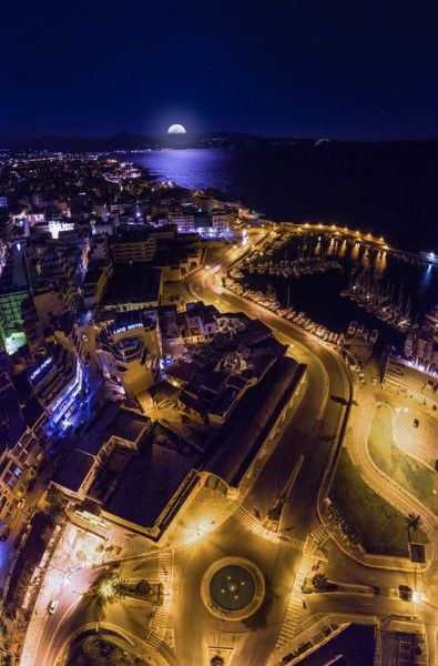 iNotos – Ενημέρωση από την Κρήτη (Το… πρώτο φεγγάρι του χρόνου στον ουρανό του Ηρακλείου__ fotografia