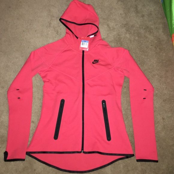 Nike tech fleece - fitted Red/orange shade. Fitted to shape. NWT only avail on Ⓜ️Er Nike Jackets & Coats Capes