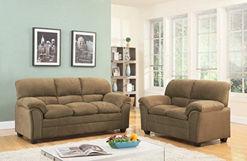 GTU Furniture sofa set features a premium plywood and hardwood frame that promises unbeatable stability and durability. The high-density foam cushions provide a brilliantly comfortable space to unwind. Its clean and simple silhouette creates a contemporary feel. Additionally, the finish is sure... more details available at https://furniture.bestselleroutlets.com/living-room-furniture/living-room-sets/product-review-for-gtu-furniture-tan-hazel-chenille-sofa-love-seat-set-2pc-l