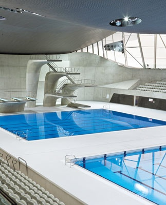 Event Central    The Aquatic Centre will host 192 Olympic events, including swimming, synchronized swimming, Paralympic swimming, modern pentathlon and diving. The facility includes three pools, a 50-meter competition pool, 50-meter warm-up pool and a 25-meter diving pool.