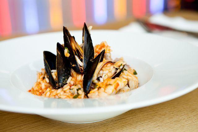 Slávky s rizottem / #Mussels with #risotto |||| www.bistrofranz.cz | Brno, Czech Republic
