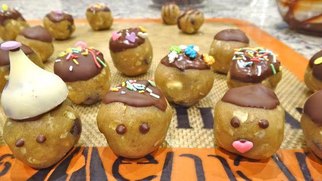 cookie dough truffles Bolas de Masa de Peanut Butter | REJINILLA REJINILLA