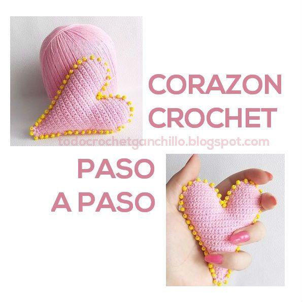 Cómo hacer bonitos corazones para San Valentin al crochet