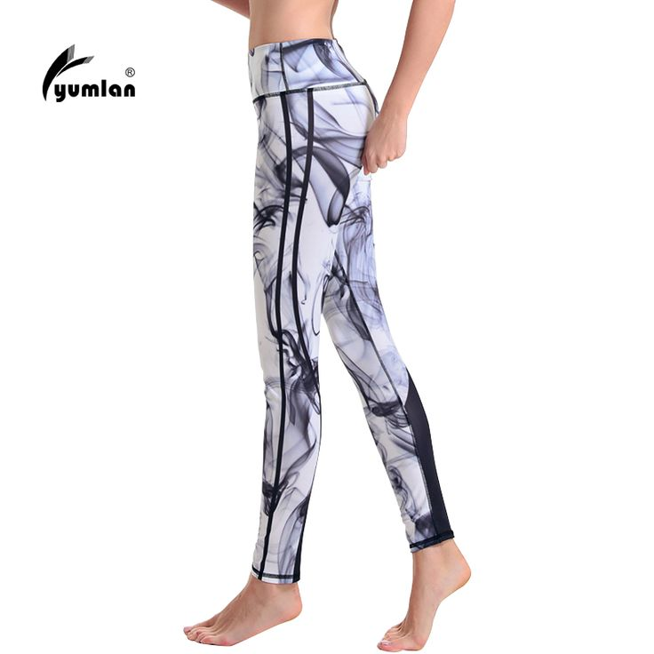 Yumlan Woman Running Trousers Printed Running Tights Fitness Leggings Gym Sports Pants Ladies Running Clothes #Affiliate