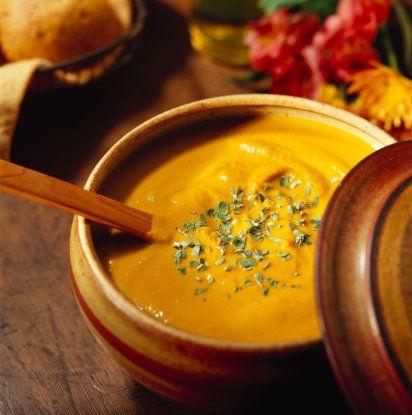 Receta: Sopa crema de zapallos