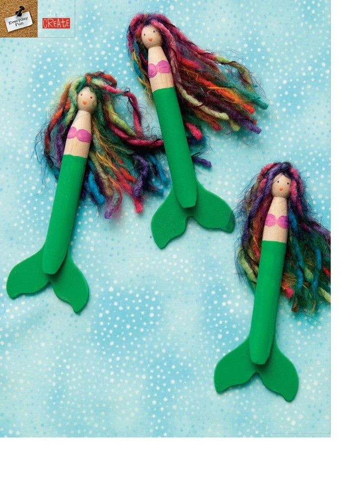 Girl Scout Swap Ideas | Clothespin Mermaids | DIY Girl Scouts Swaps Ideas