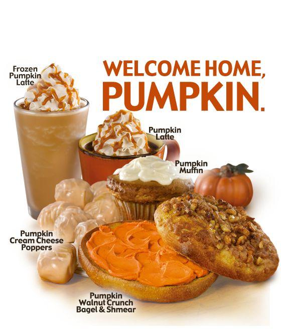 Pumpkin Latte @ Einstein Bros Bagels! Non-fat milk and no whip please!!
