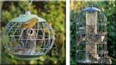 The Nuttery Birdfeeders For when you want to feed the birds, not the squirrels.  These beautifully designed feeders are built of sturdy construction and have been thwarting squirrels for over 20 years.