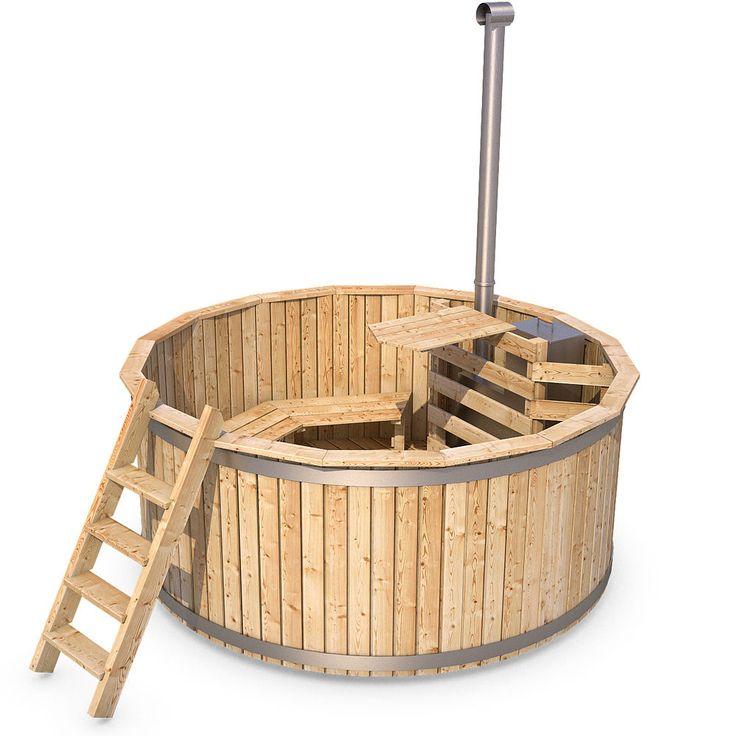 Details zu ISIDOR Badezuber Badefass Badetonne Badebottich Whirlpool  Outdoor Hot Tub Sauna