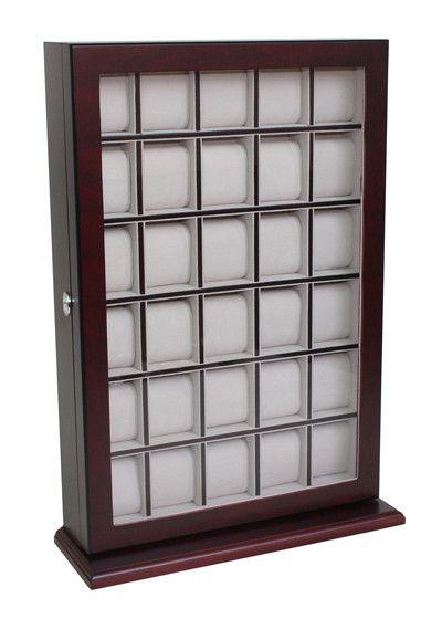 30 Watch Cherry Wood Watch Display Case and Storage Organizer Box