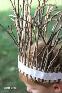 This is known as a stick crown. Great Easter bonnet idea for boys who are into Lord of the Rings.