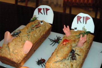 Recetas para Halloween Tumba, cambiar receta pro pastel de carne