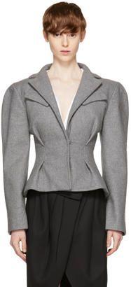 Shop Now - >  https://api.shopstyle.com/action/apiVisitRetailer?id=660822174&pid=uid6996-25233114-59 Jacquemus Grey La Petite Veste Jacket  ...