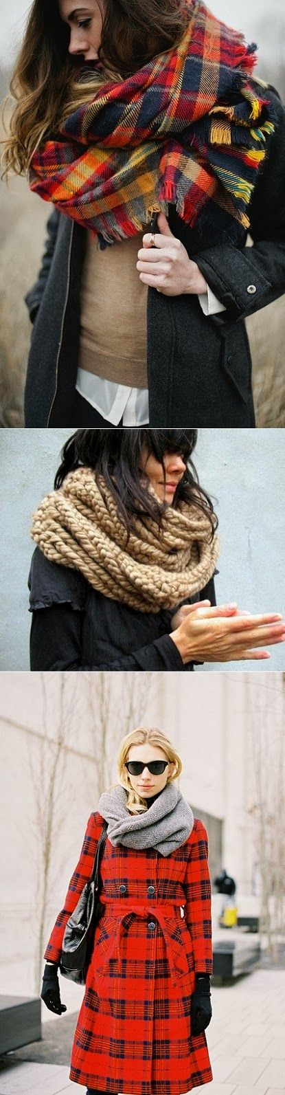 Chunky and cozy autumn scarves - oh so French!