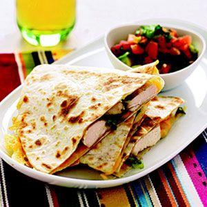 Chicken Quesadillas with Avocado-Tomato Salsa   Recipe