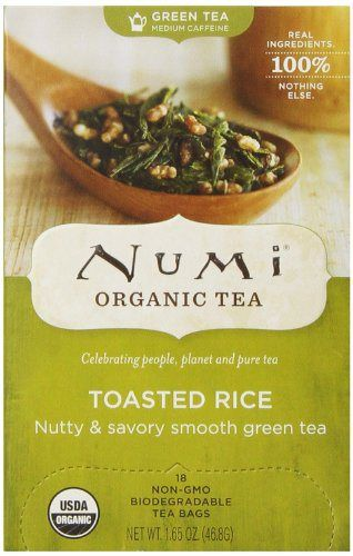 Numi Organic Tea Toasted Rice, Full Leaf Green Tea, 18 Count Tea Bags - http://teacoffeestore.com/numi-organic-tea-toasted-rice-full-leaf-green-tea-18-count-tea-bags/