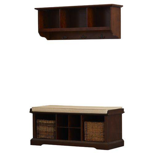 Found it at Wayfair - Selbyville Wood Storage Bench & Shelf Set