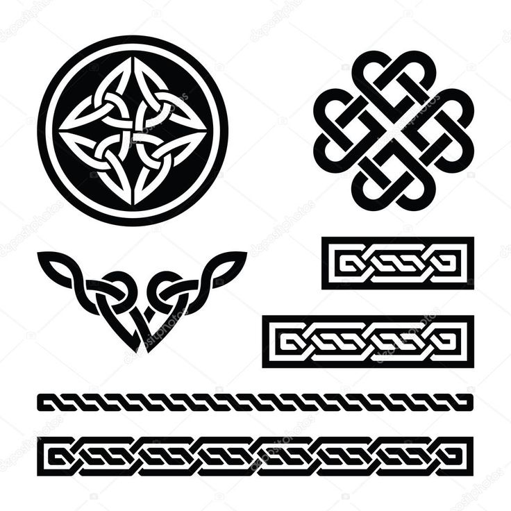Herunterladen - Keltische Knoten, Zöpfe und Muster - Vektor — Stockillustration #19183825