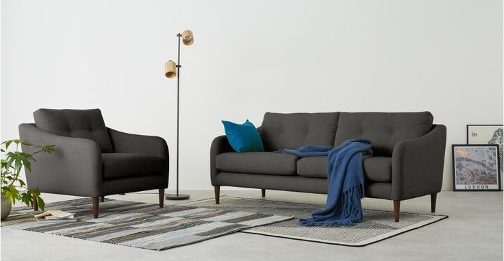 Content by Terence Conran – Alban, canapé 3 places, gris fer | made.com