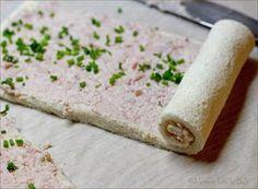 Girelle al prosciutto e robiola con il pane per tramezzini Dulcisss in forno by Leyla