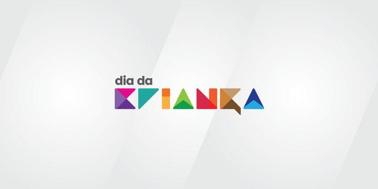 Colorful logo for Dia da Criança / International Children's Day