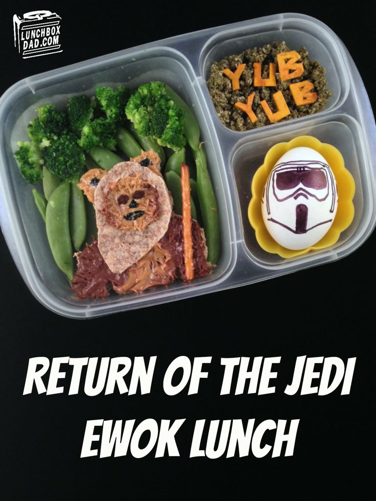 Star Wars Return of the Jedi Ewok Lunch for National Star Wars Day | packed in @EasyLunchboxes containers