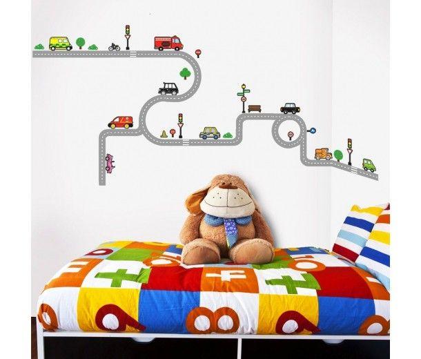 Väggdekor barn, Väg & Transport