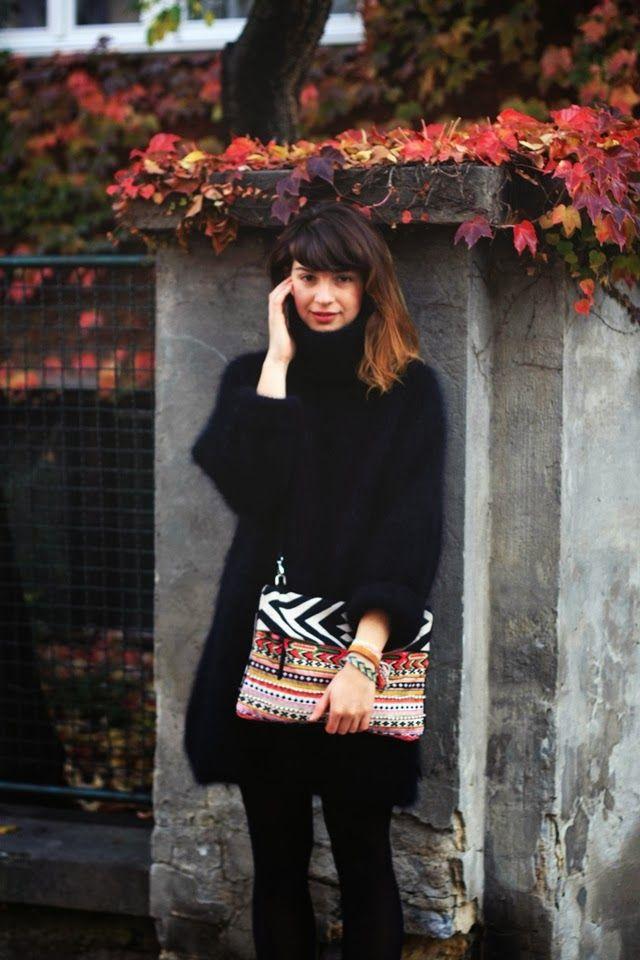 H&M sweater and Zara bag. RedPoppyStories.com