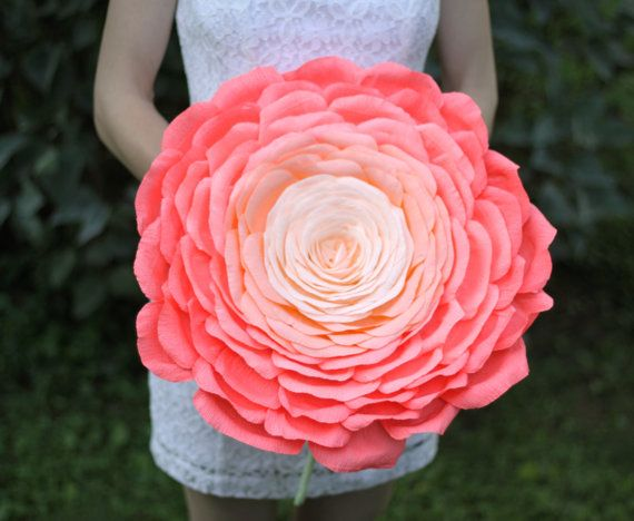 Giant ombre composite bouquet made of petals. Bride bridesmaid, wedding centerpiece flower, bridal shower. Photo prop. Spring, Summer, Beach...