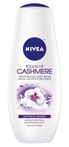 Nivea Touch of Cashmere Cream Oil Body Wash, 16.9 Ounce (Pack of 3) by Nivea. $17.97. Softening, Caressing skin Sensation. Intense moisturization Leaves a clean feeling. A blend of cashmere proteins and elegant Orchid blossom scen. A blend of cashmere proteins and elegant Orchid blossom scent work to transform your skin to a new level of softness and luxury.. Save 24%!
