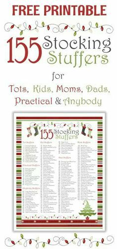 Christmas ideas for stocking stuffers