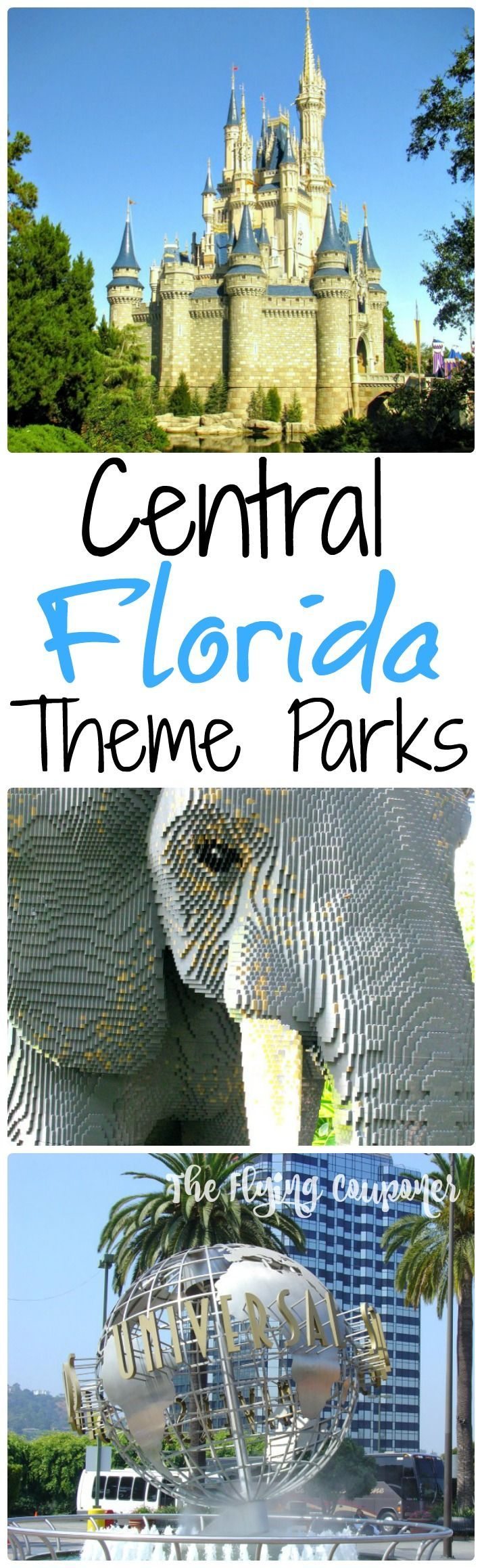 Central Florida Theme Parks. Things to do in Florida during your vacations. Legoland Orlando, Universal Studio Orlando, Bush Gardens Tampa, Disney World, I-Drive 360, SeaWorld Orlando. The Flying Couponer | Family. Travel. Saving Money.