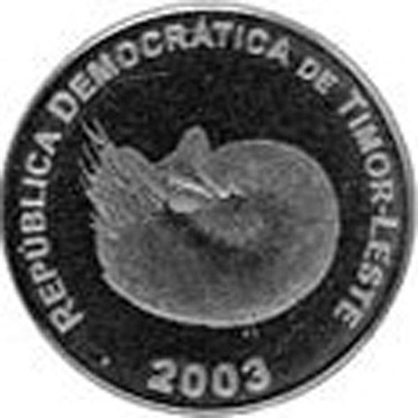 1 Centavo #Timor  2003-2012 Ritrae il Nautilus, un fossile vivente considerato estinto e scoperto per la prima volta in vita nel 1829.