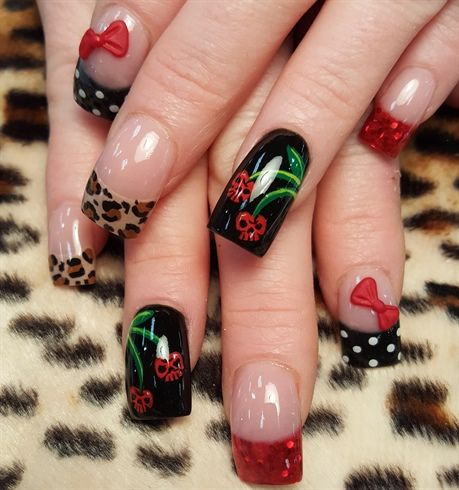 Best 25 skull nail art ideas on pinterest skull nails diy skull cherries by oli123 from nail art gallery prinsesfo Images