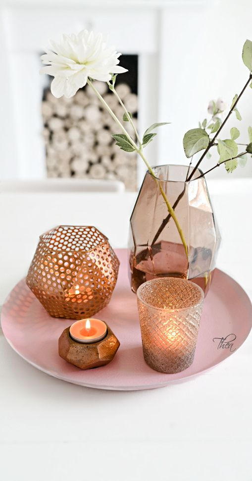 Rose Gold & Copper Candle Décor | The House of Beccaria~