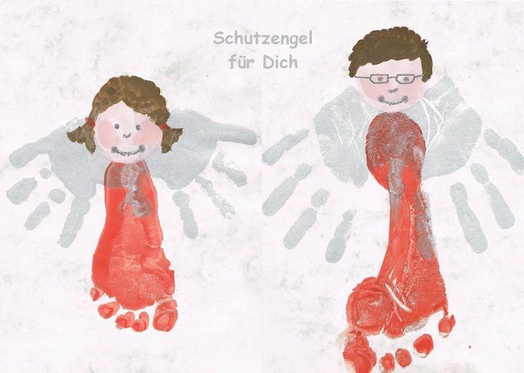 Schutzengelchen aus Hand- und Fußabdrücken