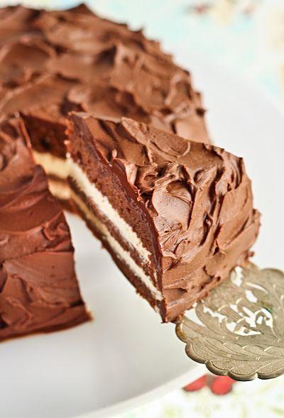 Milo Cake layered with Condensed Milk Icing and Milo Ganache by raspberri cupcakes, via Flickr