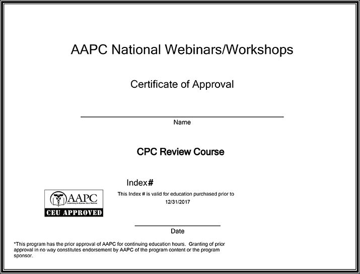 CPC Online Exam Review Course