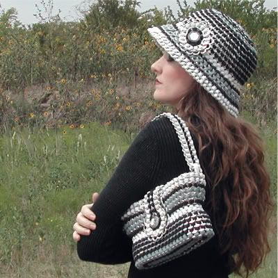 love this hat and bag made out of soda tabs